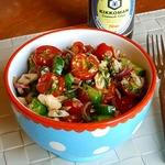 Зелёный салат с подкопчённым тунцом