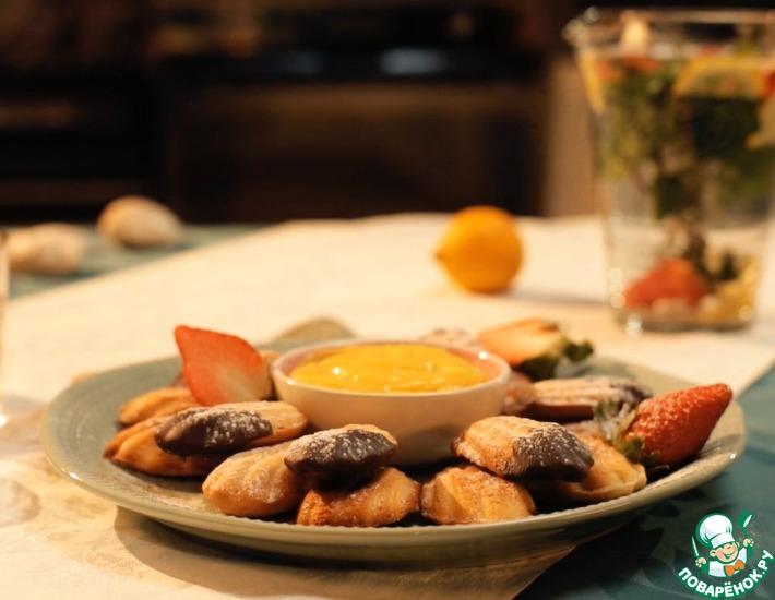 Рецепт: Французское пирожное Мадлен с лимонным кремом