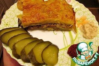 Рецепт: Картофельная запеканка с мясом и грибами