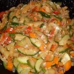 Кабачки с овощами Сытные