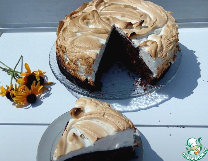 Рецепт: Шоколадно-ореховый пирог с меренгой