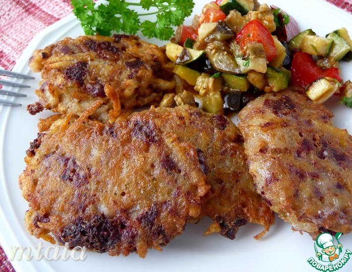 Рецепт: Картофельные котлеты с кровяной колбасой