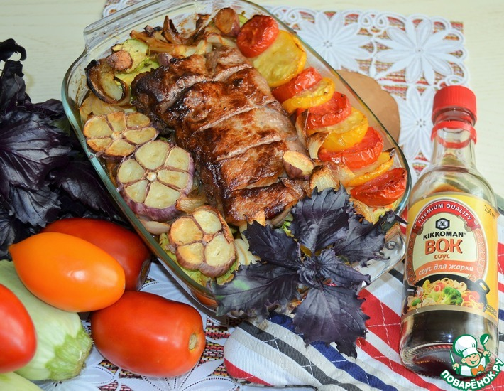 Рецепт: Кабачки со свининой по-корейски
