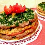 Кабачково-мясные закусочные торты