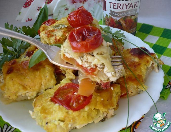 Рецепт: Запеченные рулетики из кабачков с сыром