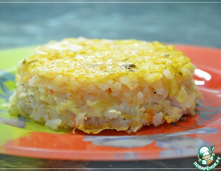 Рецепт: Рисовая запеканка с курицей и овощами