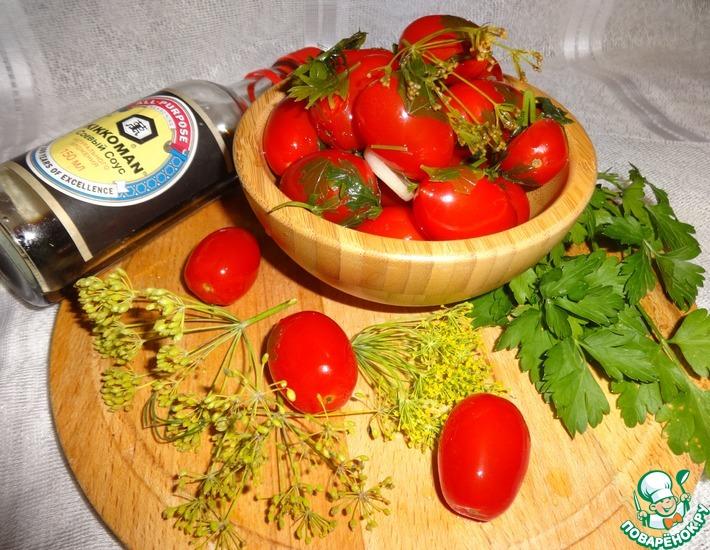 Рецепт: Малосольные помидоры черри Пальчики оближешь