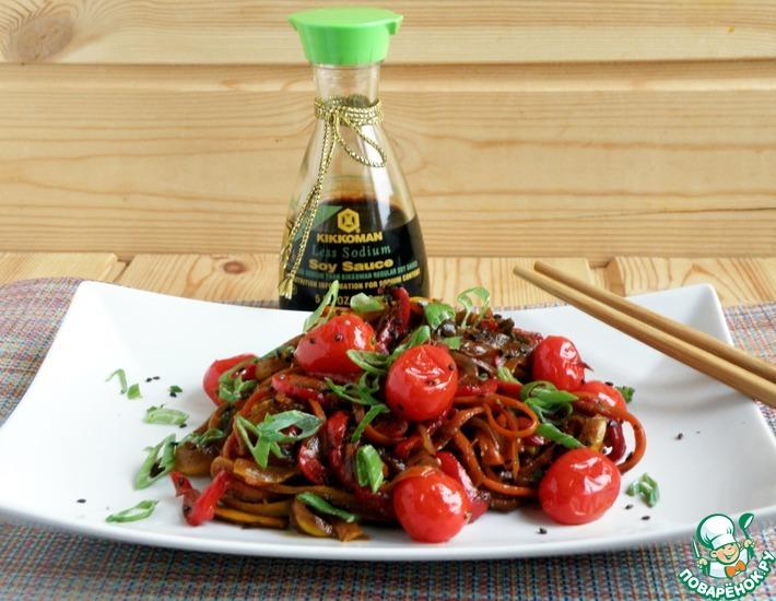 Рецепт: Стир-фрай «Овощная палитра»