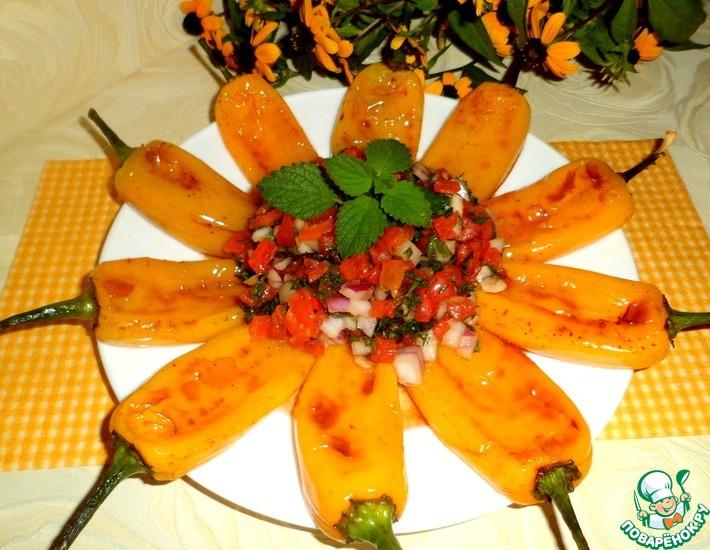 Рецепт: Турецкий перец под соусом Винегрет