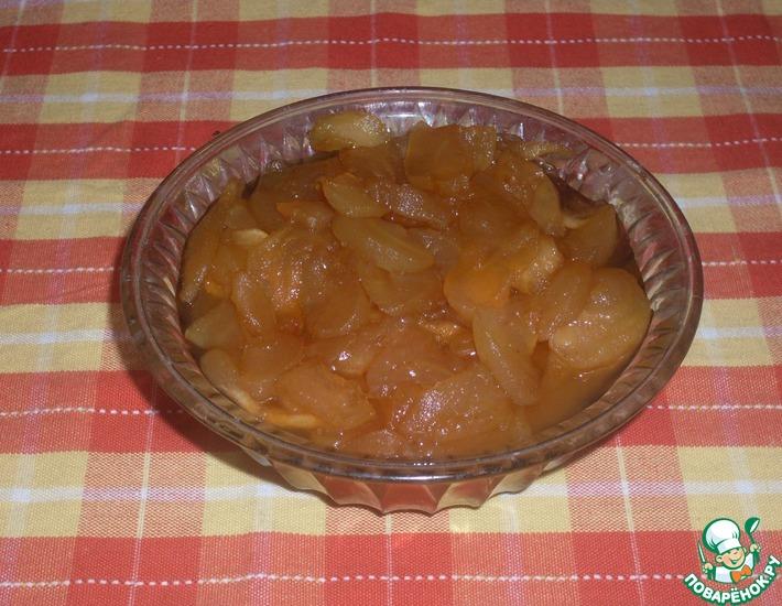 Рецепт: Варенье из яблок с мятой