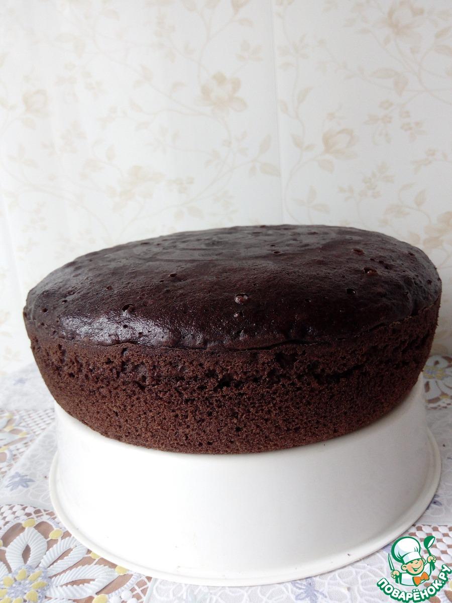 """Шоколадный торт с кремом """"Рафаэлло"""""""