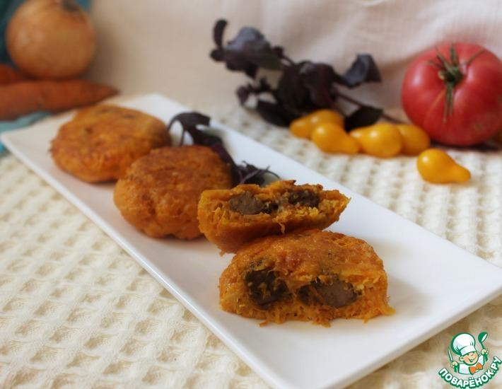 Рецепт: Морковные котлеты с печенью