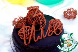 Рецепт: Шоколадный торт с кремом Рафаэлло