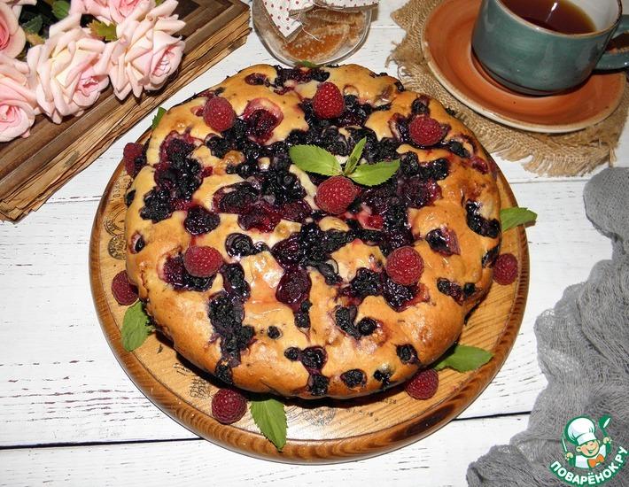 Рецепт: Пирог с замороженными ягодами