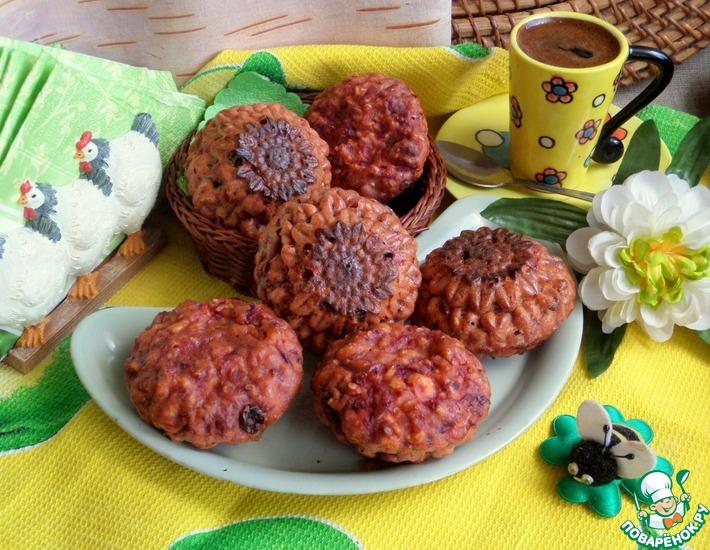 Рецепт: Свекольные сырники на гречневой муке
