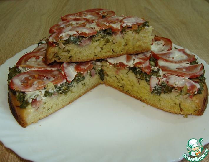 Рецепт: Удачный дачный пирог
