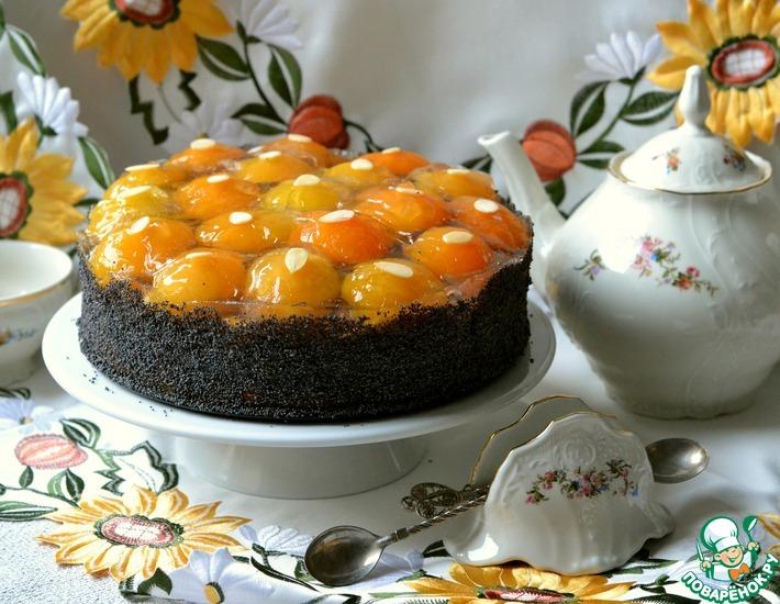 Рецепт: Маковый торт с абрикосами