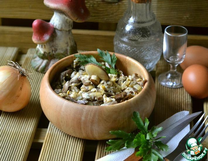 Рецепт: Грибная яичница Праженица
