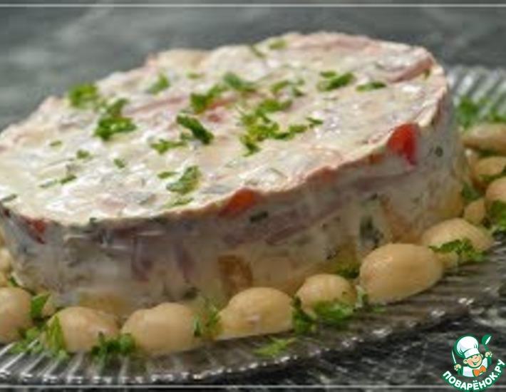 Рецепт: Салат Пестрый с необычным соусом