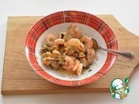 Салат с рисом, авокадо и морепродуктами ингредиенты