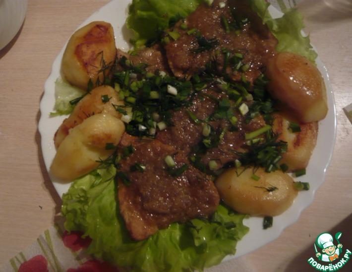 Рецепт: Мясо Здравствуй, праздник