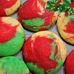 Новогоднее цветное печенье