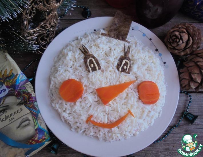 Рецепт: Салат Снеговик