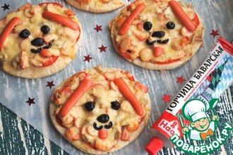 Рецепт: Пита-пицца Собачки