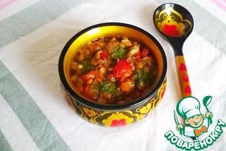 Рецепт: Чечевичный суп с индейкой в горшочке