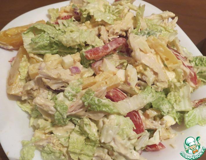 Рецепт: Салат с курицей Женское счастье