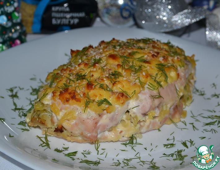 Рецепт: Куриная слойка с булгуром и сыром