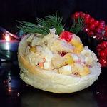 Кальмаровый салат Новогодний