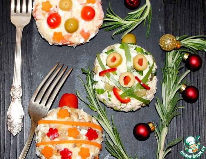 Рецепт: Салат-закуска Ёлочные шары