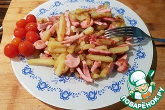 Рецепт: Жареный картофель с чесноком