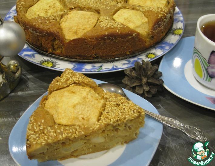 Рецепт: Яблочный пирог Рождественское чудо