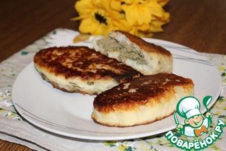 Рецепт: Зразы из картофельного теста с печенью