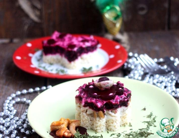 Рецепт: Салат Грибы под шубкой