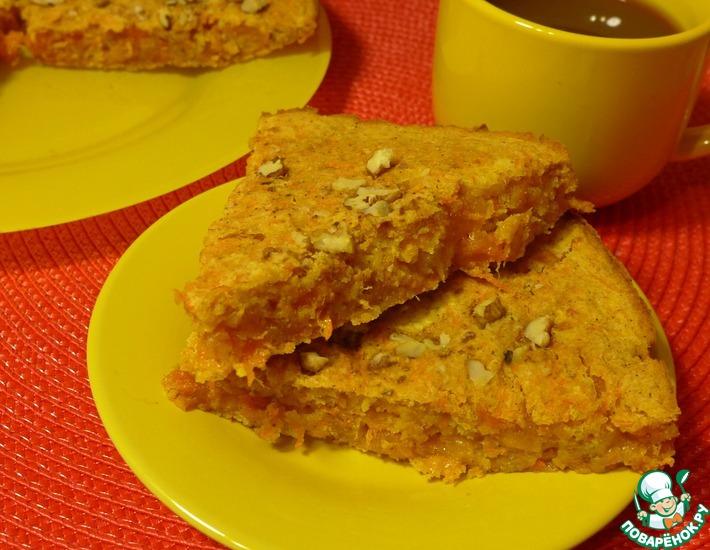 Рецепт: Пирог Морковно-яблочное удовольствие