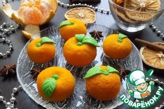 Рецепт: Пирожные ''Мандарины'' из теста моти