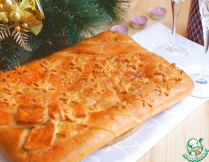 Рецепт: Пирог с утиным мясом и рисом