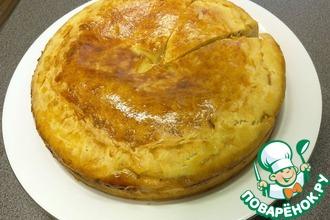 Рецепт: Пирог с кислой капустой и копчёностями