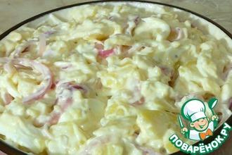 Рецепт: Картофельный салат с маринованным луком