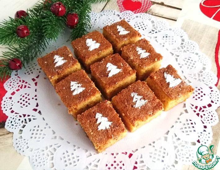 Рецепт: Манный пирог в медовом сиропе