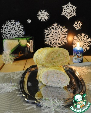 Рецепт: Рисовый рулет а-ля суши