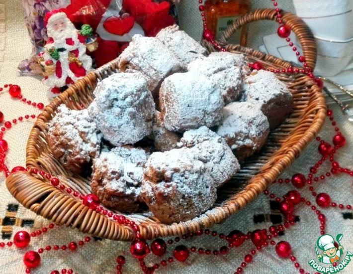 Рецепт: Пшеные кексы с орехами и бананами