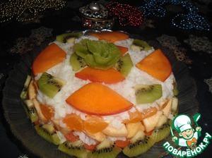 Рецепт: Фруктовый салат Под сугробом