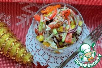Рецепт: Салат Новогодний салют