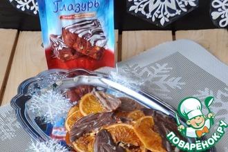 Рецепт: Карамелизированные апельсины в шоколадной глазури