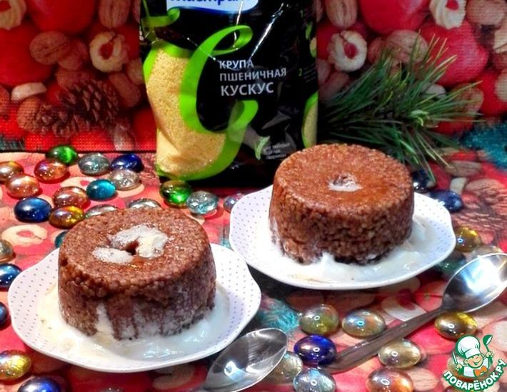 Рецепт: Десерт из кускуса с маршмеллоу