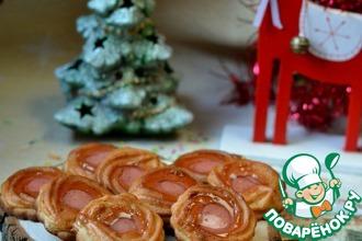 Рецепт: Марципановое новогоднее печенье